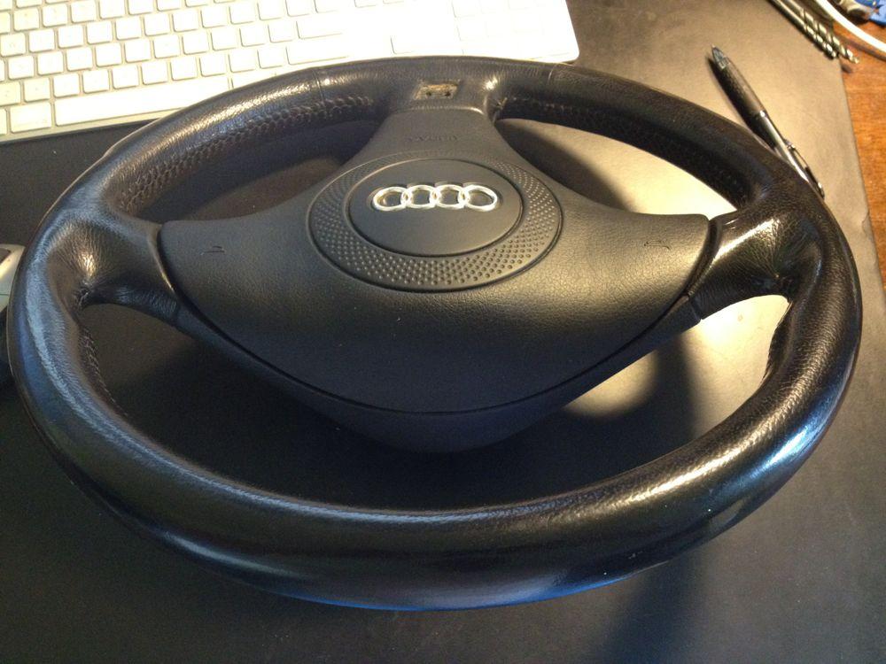 fs audi s line 3 spoke steering wheel and. Black Bedroom Furniture Sets. Home Design Ideas